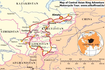 CENTRAL ASIAN RING ADVENTURE MOTORBIKE TOUR